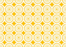 Abstract Circle Kaleidoscopic Pattern in Orange for Wallpaper Royalty Free Stock Photography