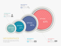 Abstract circle label infographic elements Royalty Free Stock Photo