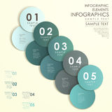 Abstract circle label infographics Stock Image