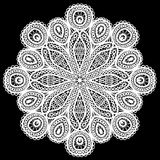 Abstract circle lace pattern. Stock Photo