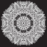 Abstract circle lace pattern. Royalty Free Stock Photography