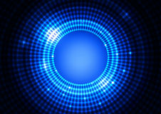 Abstract Circle Light Blue Background. Abstract  Circle with Squares Light Blue Background, Vector Illustration Stock Image