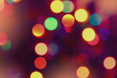 Abstract circle lights blur bokeh background Royalty Free Stock Image