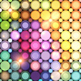 Abstract circle lights vector background Royalty Free Stock Photography