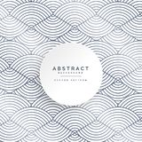 Abstract circle lines white pattern background Stock Image