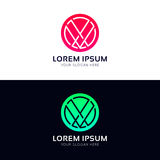 Abstract circle logo icon company sign vector design Royalty Free Stock Photography