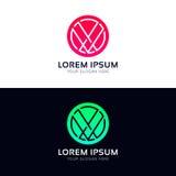 Abstract circle logo icon company sign vector design. Circle logo icon company sign vector design Royalty Free Stock Photography