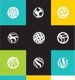 Abstract circle logo icon set Royalty Free Stock Photography