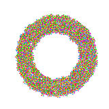 Abstract circle made with colourful dots. Illustration Stock Image