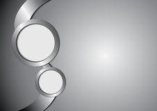 Abstract circle metal and space for text Stock Photos