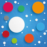 Abstract Circle Molecule Networks Blue Sky Royalty Free Stock Photos