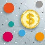 Abstract Circle Networks Dollar Stock Photos