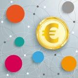 Abstract Circle Networks Euro Stock Photos