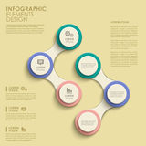 Abstract circle option infographics Royalty Free Stock Image
