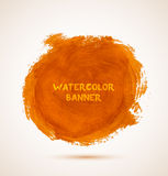 Abstract circle orange watercolor hand-drawn Royalty Free Stock Photos
