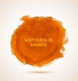 Abstract circle orange watercolor hand-drawn Royalty Free Stock Photos
