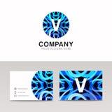 Abstract circle ornamenation logo icon V sign letter symbol vect. Circle ornamenation logo icon V sign letter symbol vector design Royalty Free Stock Images