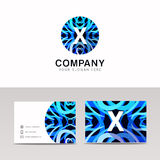 Abstract circle ornamenation logo icon X sign letter symbol  Stock Photos