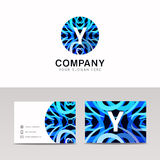 Abstract circle ornamenation logo icon Y sign letter symbol vect. Or design Stock Photos