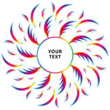 Abstract circle ornament with spectrum gradient. Frame. Text template.. Vector Royalty Free Stock Photography