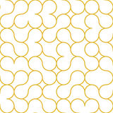 Abstract Circle Outline Gold Pattern. Abstract Outline Gold Circle Pattern Royalty Free Stock Image