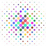 Abstract circle pattern background - geometric vector design from dots in colorful tones Royalty Free Stock Image