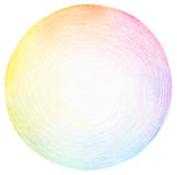 Abstract circle pencil scribbles background Stock Photo