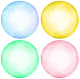 Abstract circle pencil scribbles background texture. Stock Image