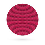 Abstract circle with red triangles. Raster Royalty Free Stock Image
