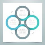 Abstract 4 Circle Ribbon Infographic 3 Royalty Free Stock Image