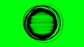 Abstract circle rotating rings and rough edges with key stock video footage