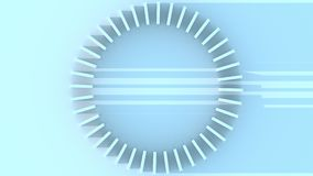 Abstract circular scale rotation. Time, measurement and technology related motion background. Abstract circle rotation, time and technology related motion stock video