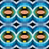 Abstract circle seamless mosaic pattern Stock Images