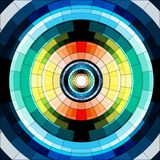 Abstract circle seamless mosaic pattern Royalty Free Stock Photography