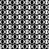 Abstract circle seamless pattern. Black and white background, de Stock Photos