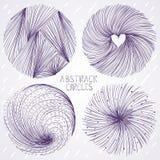 Abstract circle set Royalty Free Stock Photo