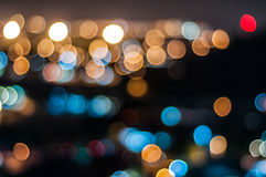 Abstract circle shape bokeh background of Kuala Lumpur Stock Images