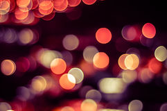 Abstract circle shape bokeh background of Kuala Lumpur. Bokeh is often most visible around small background highlights, such as specular reflections and light royalty free stock image