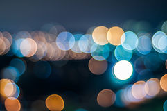 Abstract circle shape bokeh background of Kuala Lumpur Royalty Free Stock Photos