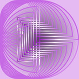 Abstract circle shape, light purple curves on pink background Stock Images