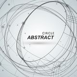 Abstract circle shapesm line and dots royalty free illustration