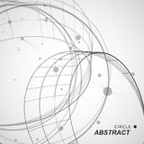 Abstract circle shapesm line and dots stock illustration
