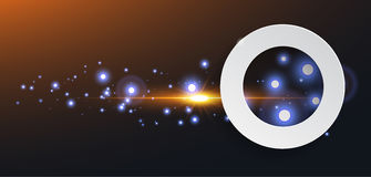 Abstract circle with shine sparkles Stock Photo
