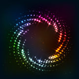 Abstract circle shining lights vector frame Stock Photography