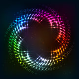 Abstract circle shining lights vector frame Stock Image