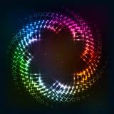 Abstract circle shining lights vector frame Stock Image