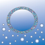 Abstract circle with space for text on blue background Stock Image
