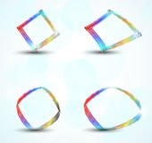 Abstract circle speech banner Stock Photography