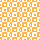 Abstract Circle Square Pattern Orange Royalty Free Stock Images