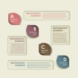 Abstract circle tag infographics. 3d vector abstract circle tag infographic elements Stock Images